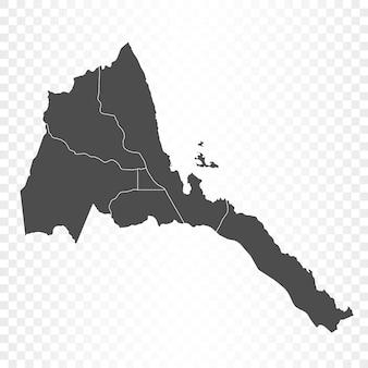 Eritrea-karte isoliert auf transparent