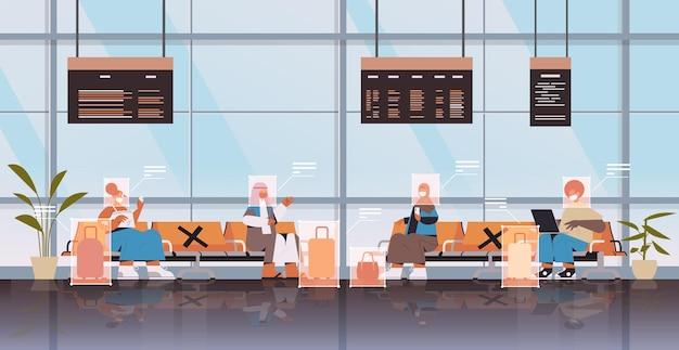 Erkennung und identifizierung von personen im flughafenterminal gesichtserkennungssystem ki analysiert big data