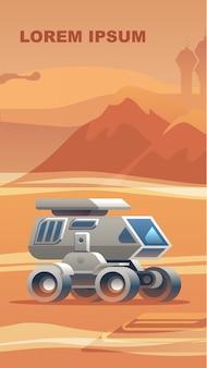 Erkundung von neulandoberfläche mars.