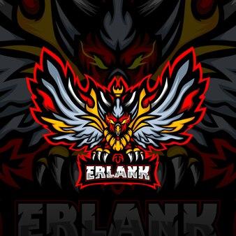 Erlank esport maskottchen logo