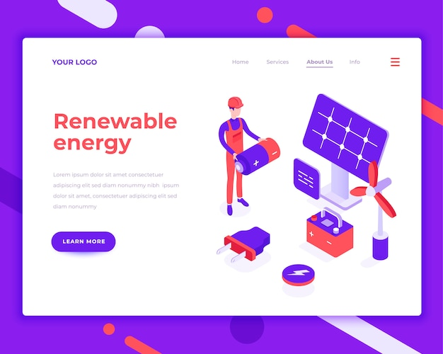 Erneuerbare energien menschen und interagieren mit solarpanel