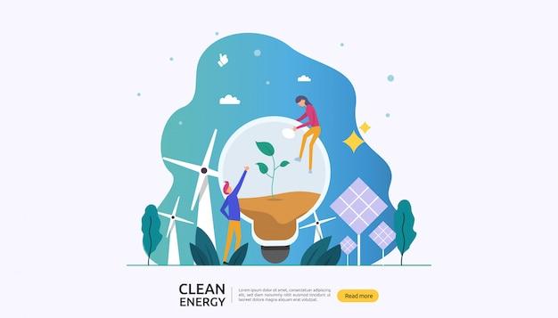 Erneuerbare grüne elektrische energiequellen und sauberes umweltkonzept