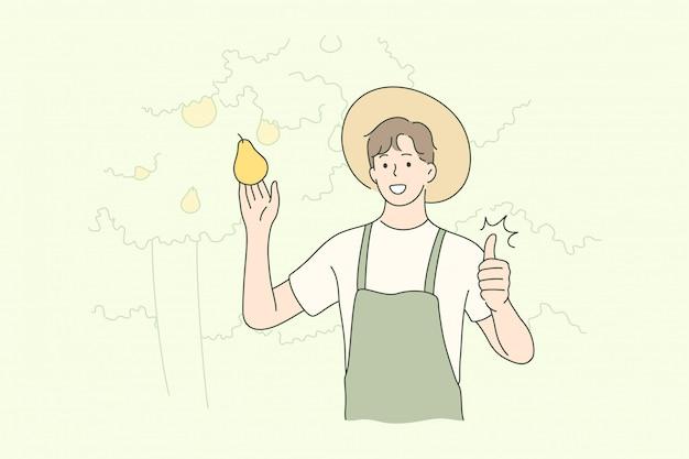 Ernte, landwirtschaft, landwirtschaft, naturkonzept.