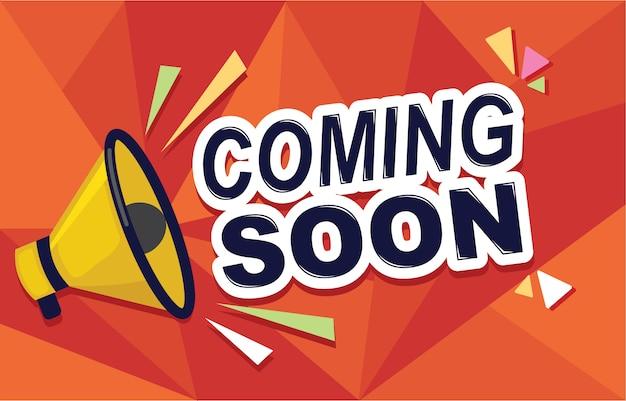 Eröffnung bald banner banner badge design element