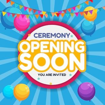 Eröffnung bald einladungskarte
