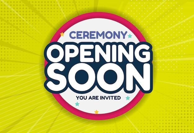 Eröffnung bald einladungskarte.