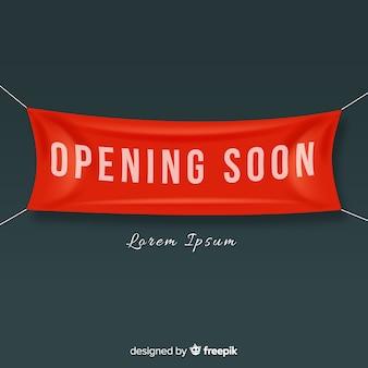 Eröffnung bald hintergrund im realistischen stil