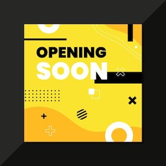 Eröffnung bald hintergrund
