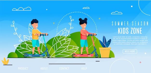 Eröffnung der summer sason kids zone outdoor-aktivitäten