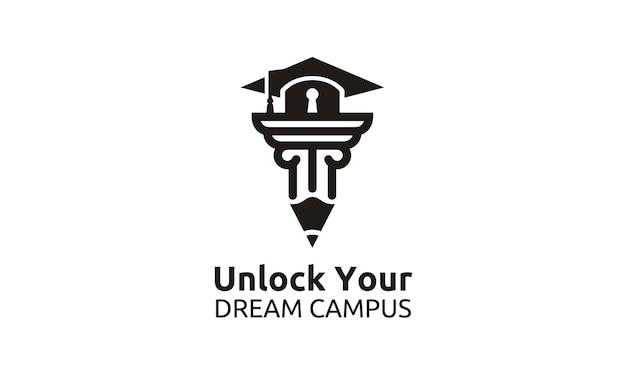Erreichen sie das beste für schule / universität / college / graduate logo