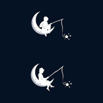 Erreichen von träumen logo design vorlage