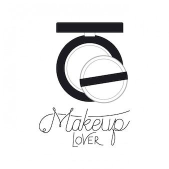 Erröten sie, um produktzubehör zu schminken