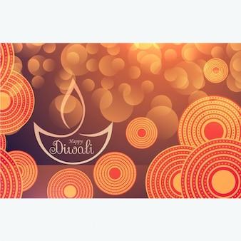 Erstaunlich diwalifest hintergrund mit bokeh-effekt und dekoration