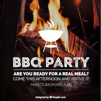 Erstaunliche barbecue einladung