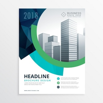 Erstaunliche blaue Broschüre Flyer Template-Design für Präsentation