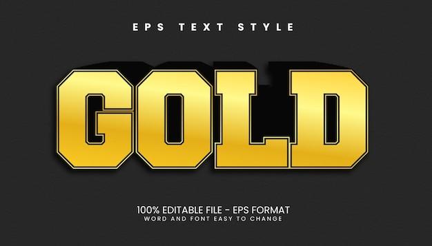 Erstaunliche gold-3d-bearbeitbare texteffekte