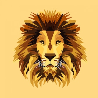 Erstaunliche löwe-vektor-illustration