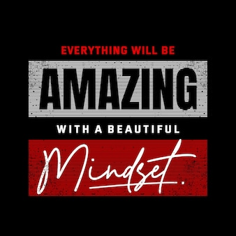 Erstaunliche zitate mit slogan-typografie