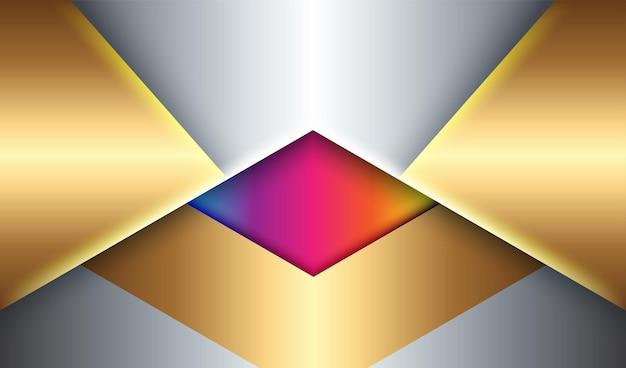 Erstaunlicher abstrakter geometrischer bunter illustrationsfahnenentwurfsplanhintergrund