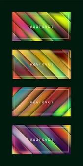 Erstaunliches geometrisches buntes linienüberlappungsdesign modernes futuristisches banner-layout