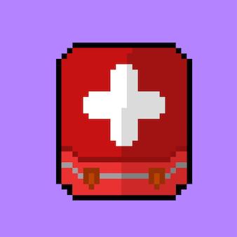 Erste-hilfe-kasten im pixel-art-stil