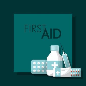 Erste-hilfe-kit medizinische gesundheit