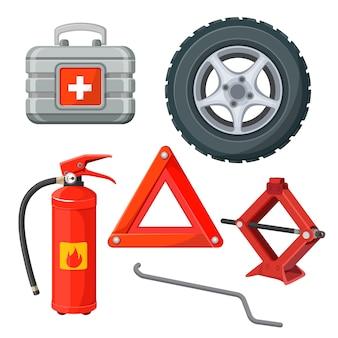 Erste-hilfe-notfallausrüstung im auto