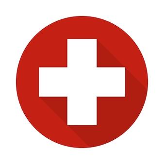 Erste-hilfe-symbol mit schatten