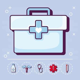 Erste hilfe und medizinisch