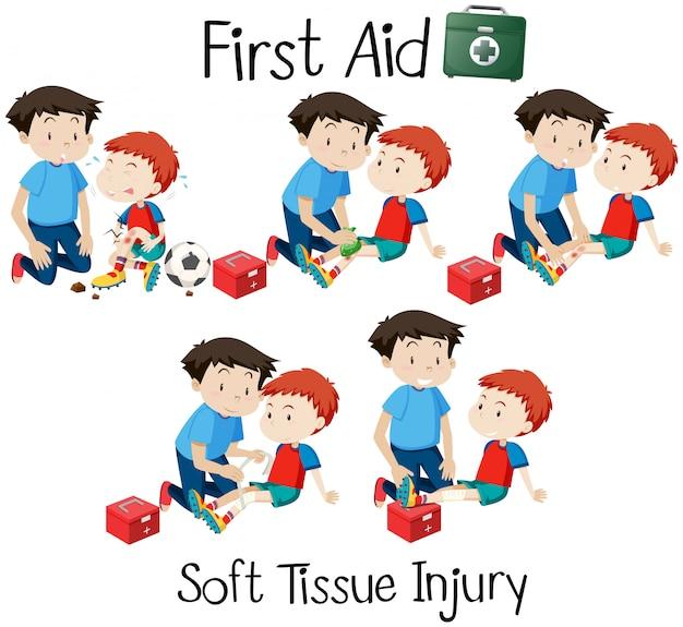 Erste-hilfe-weichteilverletzung