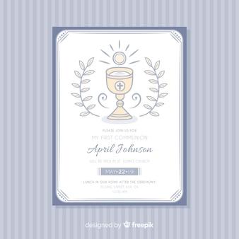 Erste kommunion einladungsvorlage