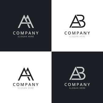 Erste logo-vorlagen für aa ab-briefe