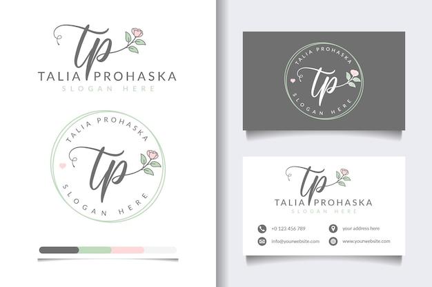 Erste tp feminine logo-sammlungen mit visitenkartenvorlage