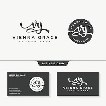 Erste vg signatur logo design vorlage