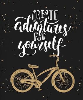 Erstelle abenteuer mit dem fahrrad
