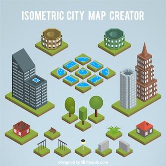 Erstellen einer isometrischen stadtplan