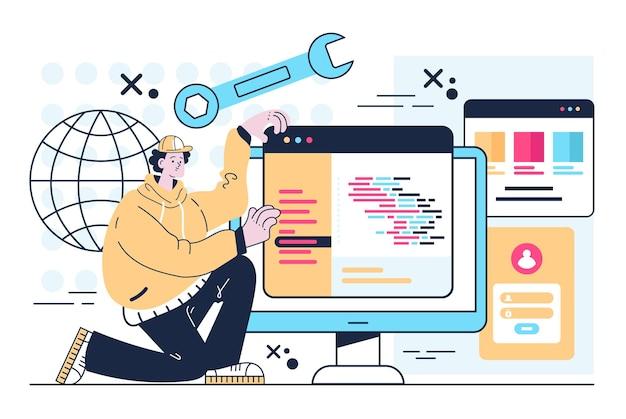 Erstellen eines programm-html-code-prozesskonzepts