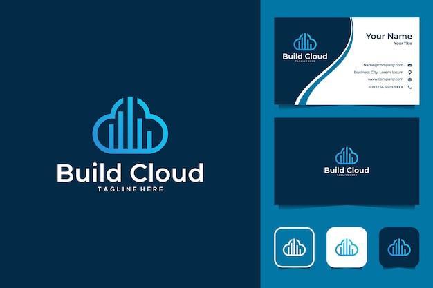 Erstellen sie ein cloud-logo-design und eine visitenkarte