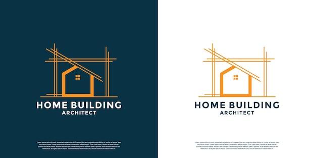 Erstellen sie ein home-logo-design für architekten, bauunternehmer