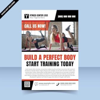 Erstellen sie ihr perfektes flyer-vorlagendesign für das körper-fitnesscenter