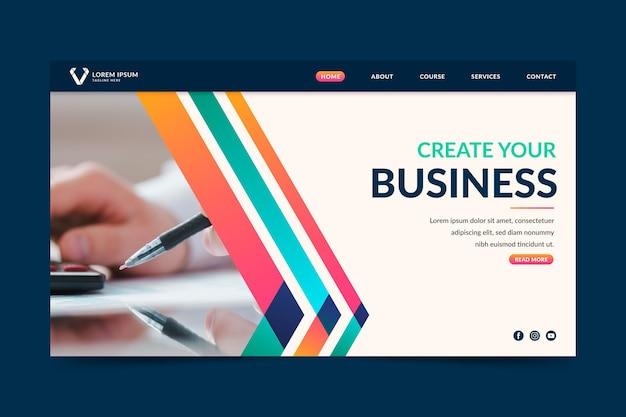 Erstellen sie ihre business-landingpage