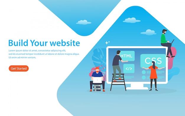 Erstellen sie ihre website-landingpage
