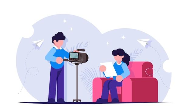 Erstellen sie videoinhalte für blogs