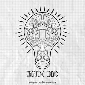 Erstellen von ideen konzept