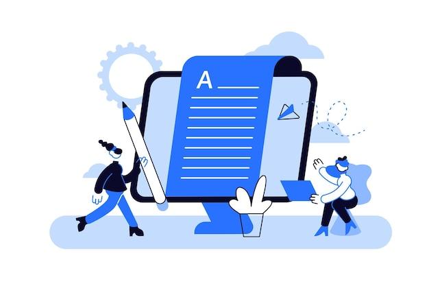 Erstellen von inhalten, artikel, schreiben von texten und bearbeiten von remote-jobs