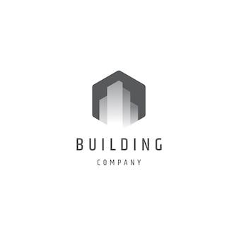 Erstellen von sechseckigen monochromen farbverlauf-logo-vorlage logo