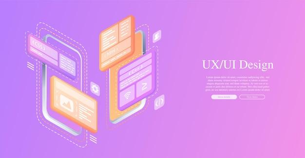 Erstellt ein benutzerdefiniertes design für eine mobile anwendung ui ux designentwicklung von anwendungsdesign