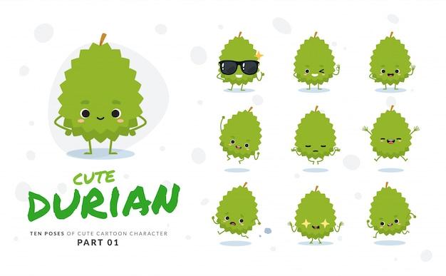 Erster satz von comic-bildern von durian.