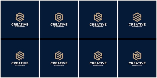 Erster satz von e-logo-design-inspiration