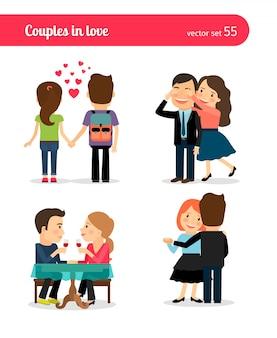 Erstes datum eines glücklichen paares